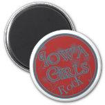 ¡Roca de los chicas de Iowa! Imán De Nevera