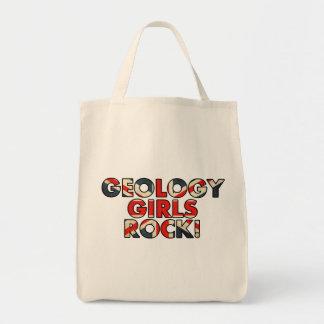 ¡Roca de los chicas de la geología!  (Bandera BRIT Bolsa Tela Para La Compra