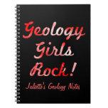 ¡Roca de los chicas de la geología! Cuaderno