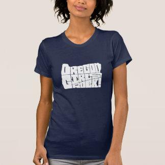 ¡Roca de los chicas de Oregon azules marinos Camiseta