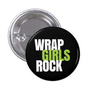¡Roca de los chicas del abrigo! ¡- Trabaja! Global Pin Redondo De 1 Pulgada