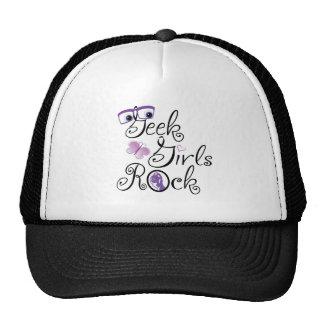 ¡Roca de los chicas del friki! Gorras De Camionero