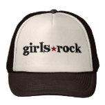 Roca de los chicas gorro de camionero