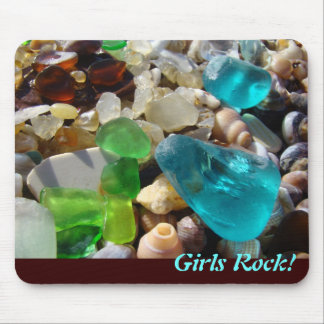 ¡Roca de los chicas mousepads para su vidrio del Tapetes De Ratón