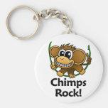 ¡Roca de los chimpancés! Llaveros Personalizados