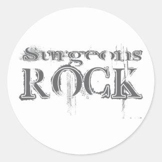 Roca de los cirujanos pegatinas redondas