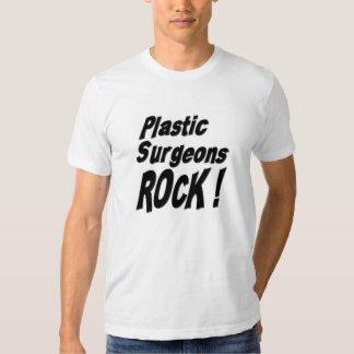 ¡Roca de los cirujanos plásticos! Camiseta Remeras