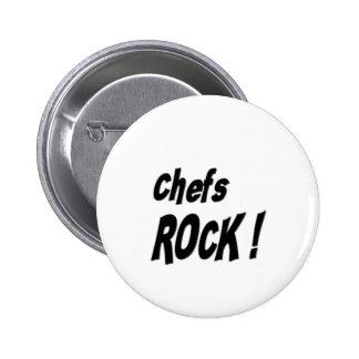 ¡Roca de los cocineros! Botón Pin Redondo De 2 Pulgadas