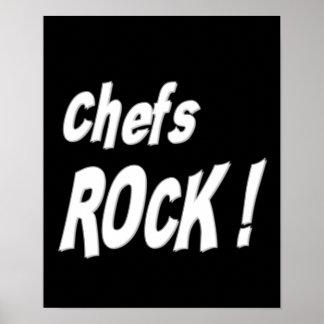 ¡Roca de los cocineros Impresión del poster