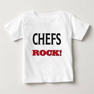 Roca de los cocineros playera para bebé