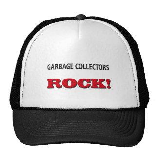 Roca de los colectores de basura gorras de camionero