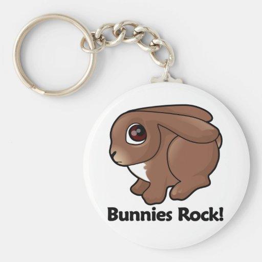 ¡Roca de los conejitos! Llaveros Personalizados