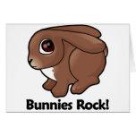 ¡Roca de los conejitos! Tarjetas