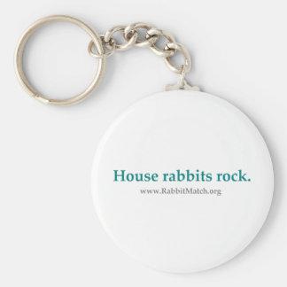 Roca de los conejos de la casa Cadena dominante Llaveros