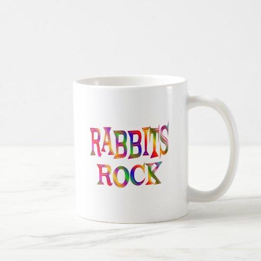 Roca de los conejos taza básica blanca