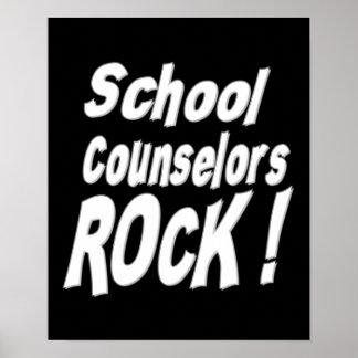 ¡Roca de los consejeros de la escuela! Impresión d Posters