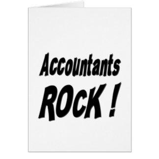 ¡Roca de los contables Tarjeta de felicitación