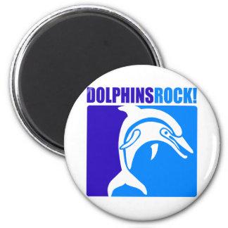 ¡Roca de los delfínes! #4 Imán Redondo 5 Cm