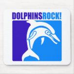 ¡Roca de los delfínes! Alfombrillas De Ratón