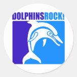 ¡Roca de los delfínes! Pegatinas Redondas