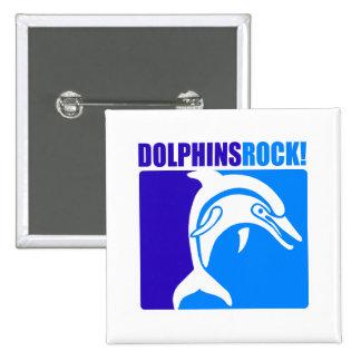 ¡Roca de los delfínes Pins