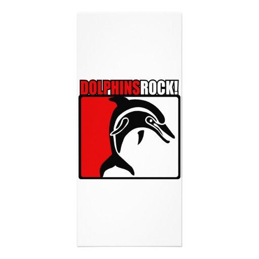 ¡Roca de los delfínes! Diseño De Tarjeta Publicitaria