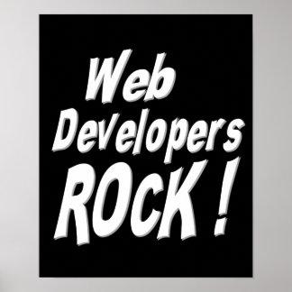 ¡Roca de los desarrolladores de Web! Impresión del Póster