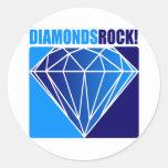 ¡Roca de los diamantes! Etiqueta
