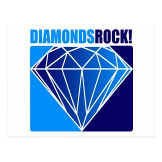 ¡Roca de los diamantes Tarjetas Postales