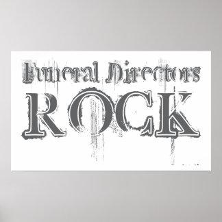 Roca de los directores de funeraria póster