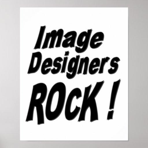 ¡Roca de los diseñadores de la imagen! Impresión Póster