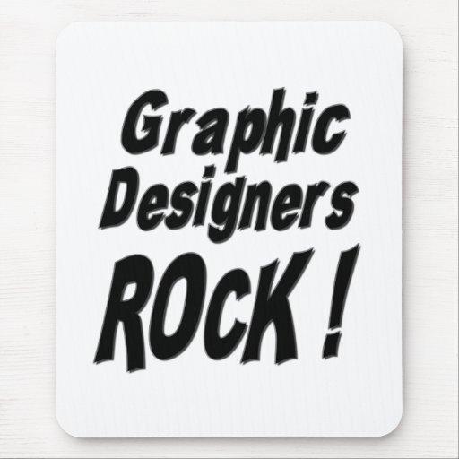 ¡Roca de los diseñadores gráficos! Mousepad