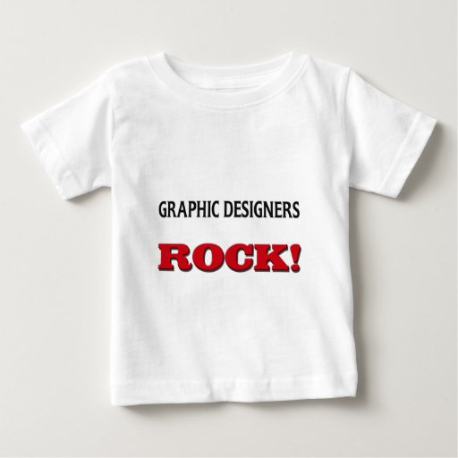 Roca de los diseñadores gráficos playera