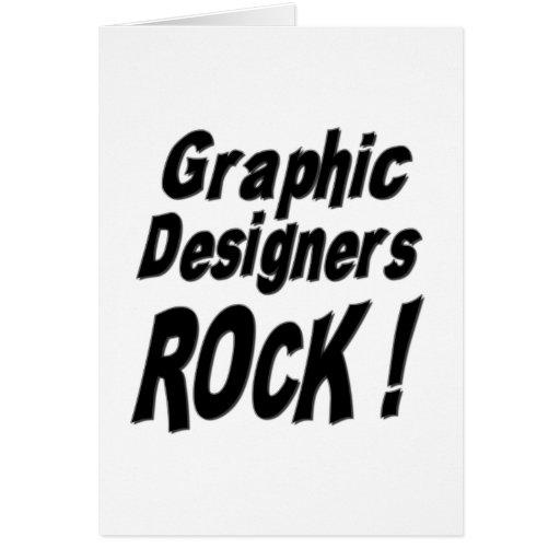 ¡Roca de los diseñadores gráficos! Tarjeta de feli