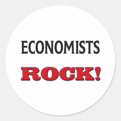 Roca de los economistas etiqueta redonda