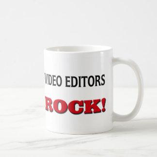 Roca de los editores de vídeo tazas de café
