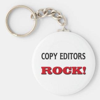 Roca de los editores llavero redondo tipo pin