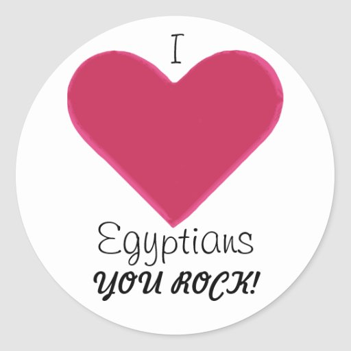 ¡Roca de los egipcios! Pegatina Redonda