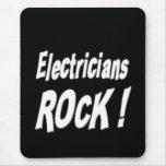 ¡Roca de los electricistas! Mousepad Tapetes De Raton