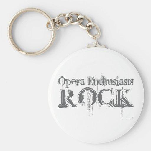 Roca de los entusiastas de la ópera llaveros personalizados