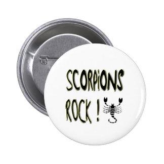 ¡Roca de los escorpiones! Botón Pins