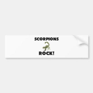 Roca de los escorpiones pegatina de parachoque