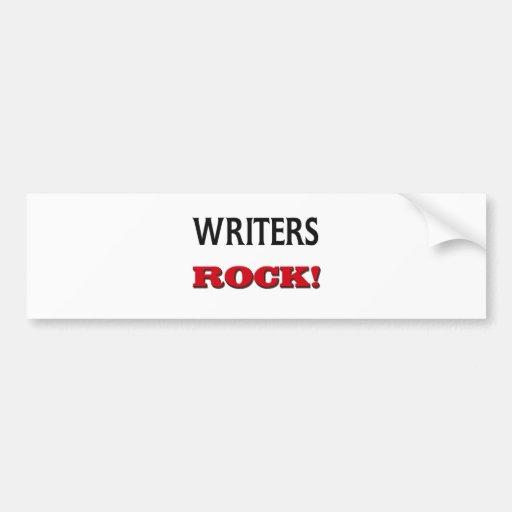 Roca de los escritores etiqueta de parachoque