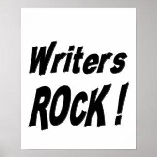 ¡Roca de los escritores Impresión del poster