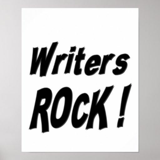 ¡Roca de los escritores! Impresión del poster