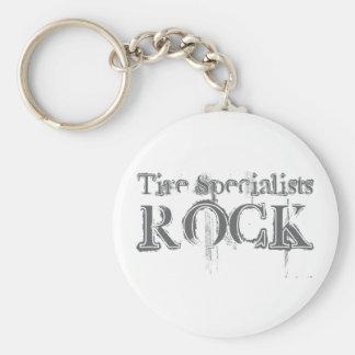 Roca de los especialistas del neumático llavero redondo tipo pin