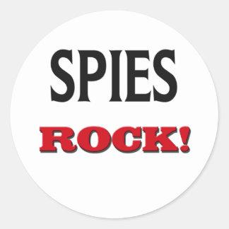 Roca de los espías etiquetas redondas