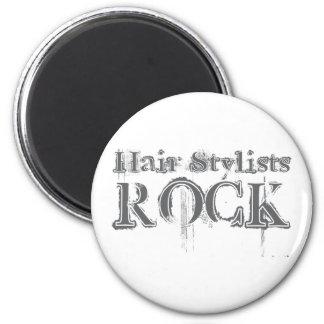 Roca de los estilistas imán redondo 5 cm