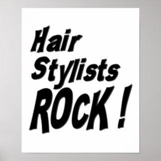 ¡Roca de los estilistas Impresión del poster