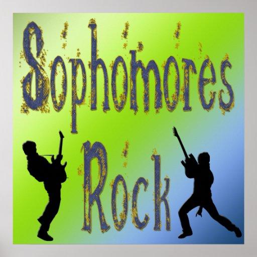 Roca de los estudiantes de segundo año - poster de